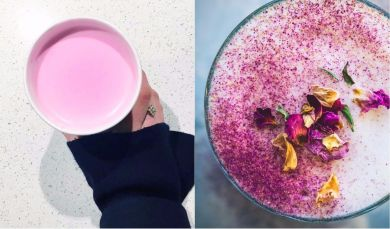 Розовый латте