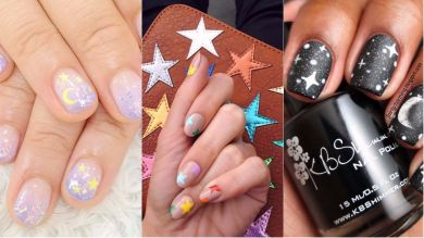 Звездопад: этот nail-тренд очень популярен в сети прямо сейчас!