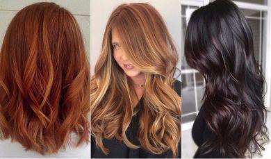Окрашивание волос на осень