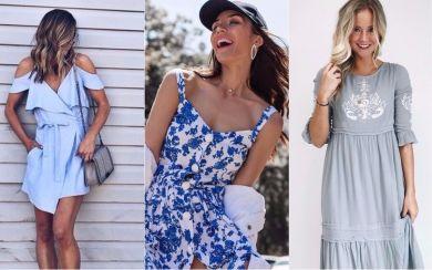 Задержим лето: 5 причин надеть платье небесного цвета