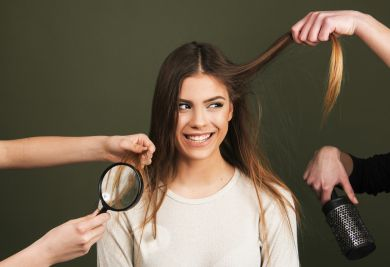 Волосы девушка