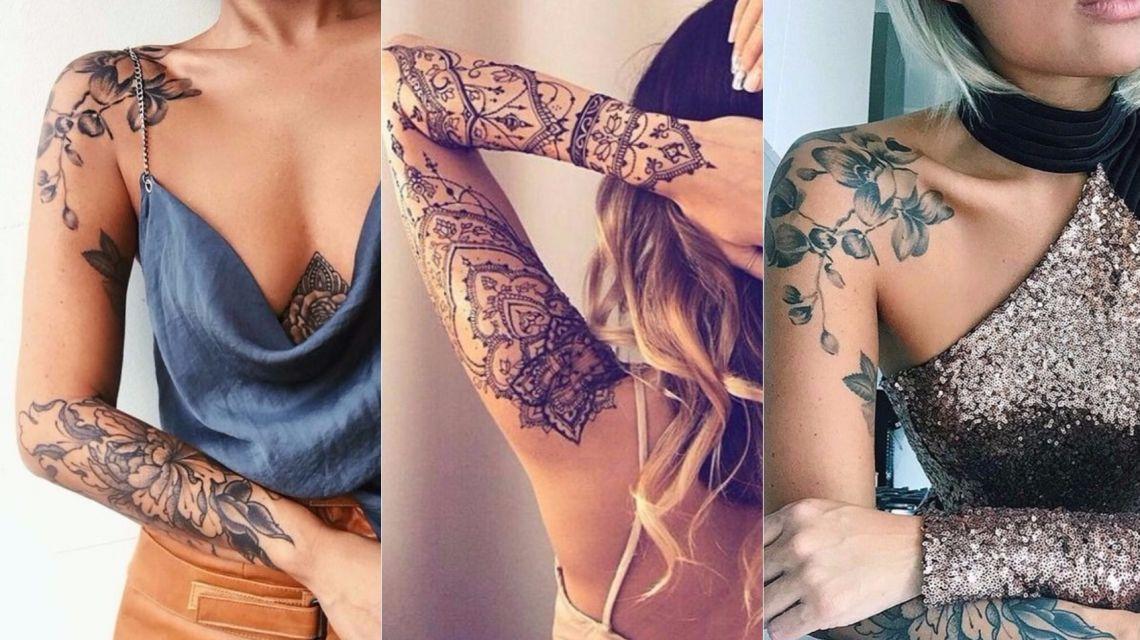 Татуировки на плече модные