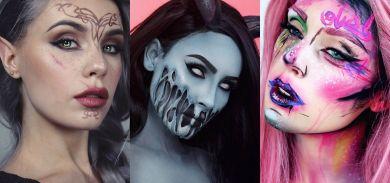 необычный макияж на Хэллоуин 2017
