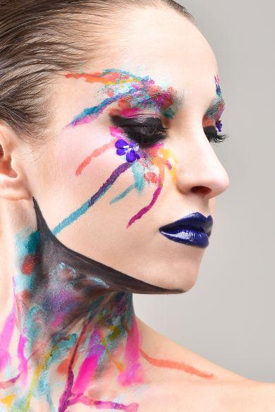 Настя макияж Хэллоуин