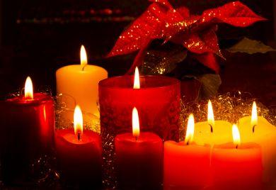 ароматические свечи на новый год