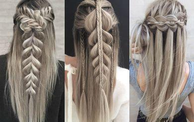 Новогодние прически для длинных волос своими руками