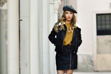Как правильно носить кожаную юбку и выглядеть прилично