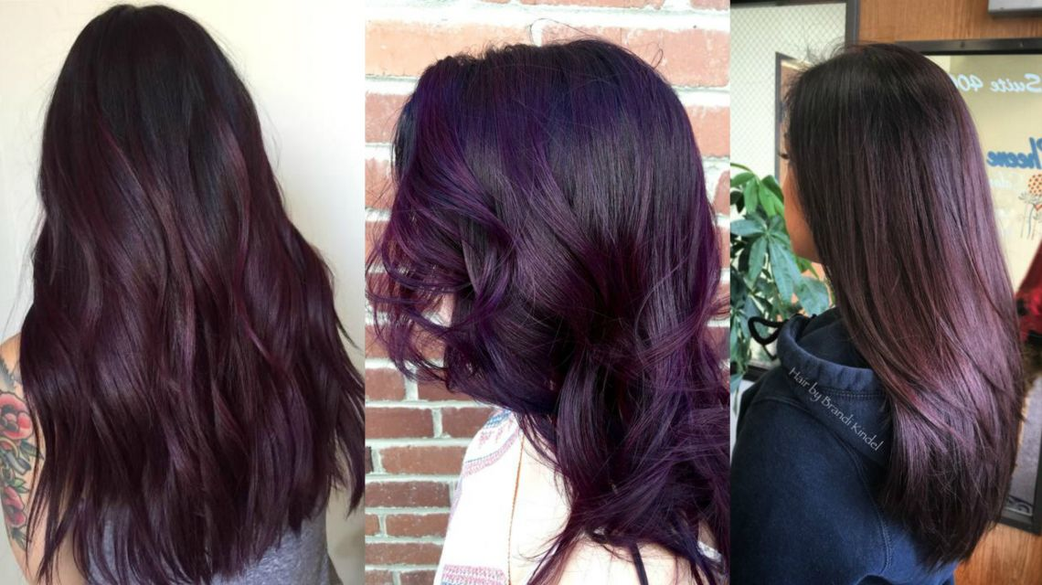 Кому идет цвет волос баклажан