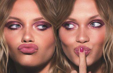 розовые тени в макияже
