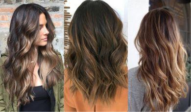 Мелирование коричневые волосы