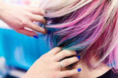 как смыть краску с волос