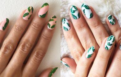 летний маникюр с рисунками на ногтях