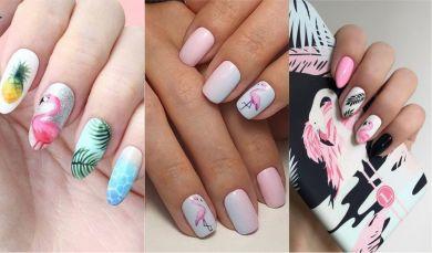 Фламинго маникюр