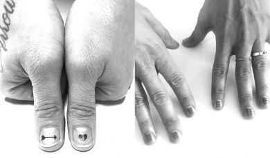Тату на ногтях