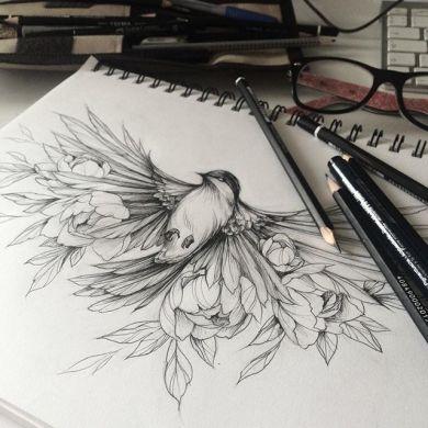 Самые женственные татуировки с птицами