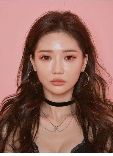 корейский персиковый макияж
