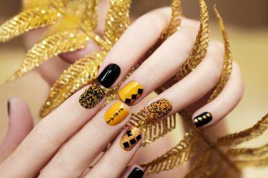 Яркие ногти на Новый год