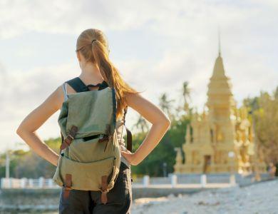 Путешественница в Азии