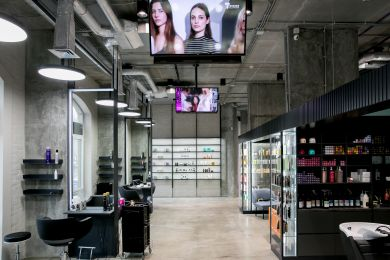 Backstage beauty salons