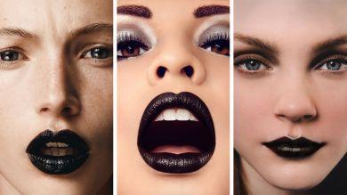 Черные угольные губы
