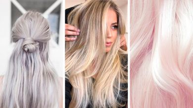 Модное окрашивание 2019 холодный блондин