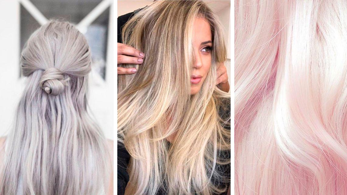 Окрашивание волос холодный блонд