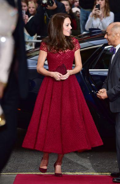 Кейт Миддлтон в платье Marchesa