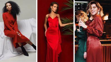 Красные платья от украинских дизайнеров