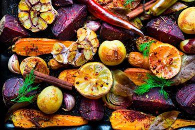 Запечные сезонные овощи