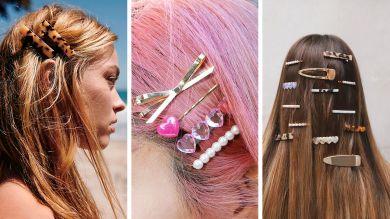 Стильные заколки для волос