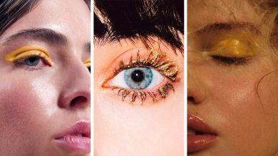 Желтый макияж на 8 марта