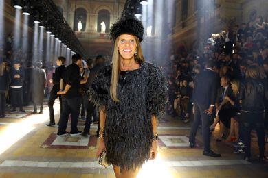 Анна Делло Руссо в черном платье