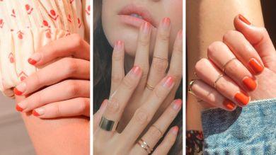 Модные коралловые ногти