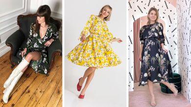 Три цветочных платья на 8-е марта