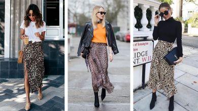 Леопардовая юбка. С чем носить