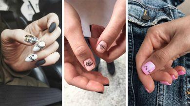 Маникюр надписи на ногтях