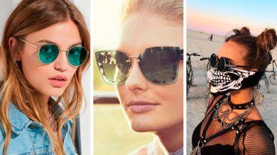 Девушки в модных солнцезащитных очках