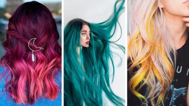 Девушки с разноцветным окрашиванием
