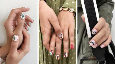 Акварельные рисунки на ногтях