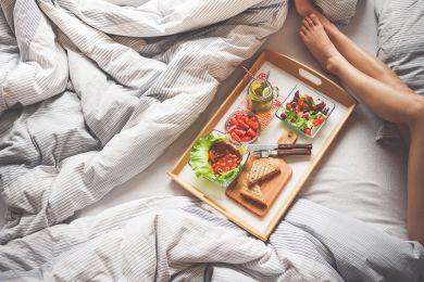 Полезный завтрак в постель