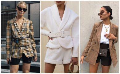 образы с пиджаками и шортами