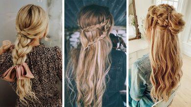 Прически на длинные волосы с плетением