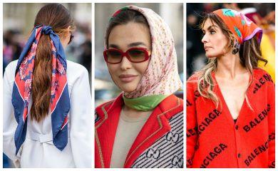шарф на голове