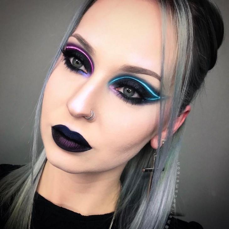 Неоновый лайнер стал трендом в макияже (ФОТО)
