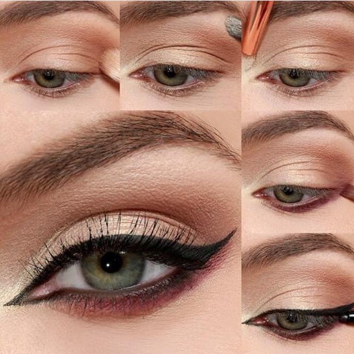 Вечерний макияж: как рисовать стрелки