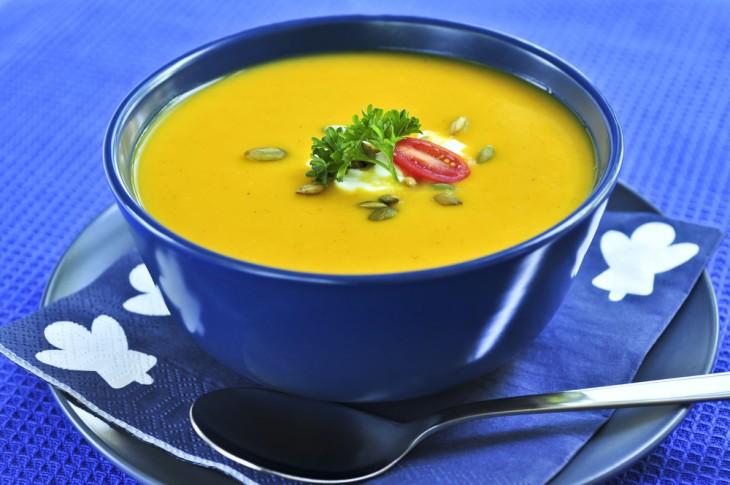 Постные блюда тыквенный суп