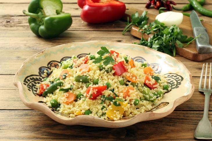Постные блюда Кускус с овощами