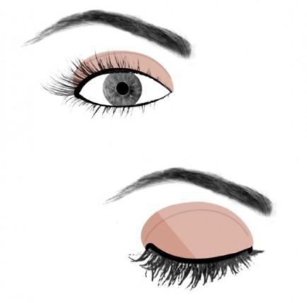 Опущенные внешние уголки глаз