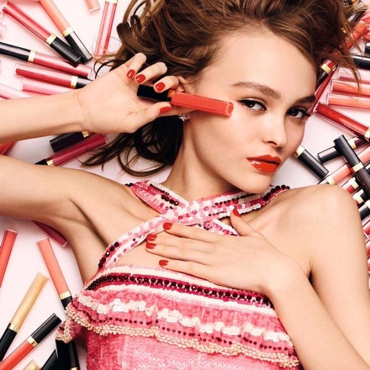 Лили-Роуз Депп в рекламной кампании Chanel