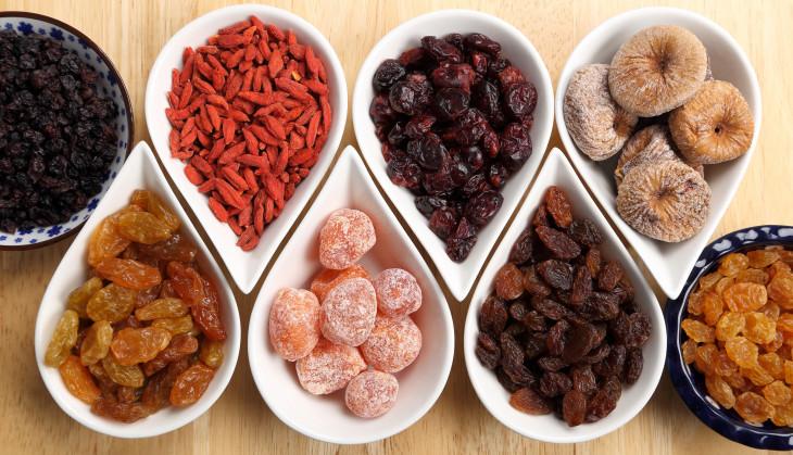 Сухофрукты как вариант низкокалорийного десерта